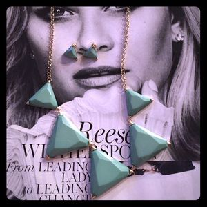 Jewelry - Statement Necklace Triangle with Earrings Set